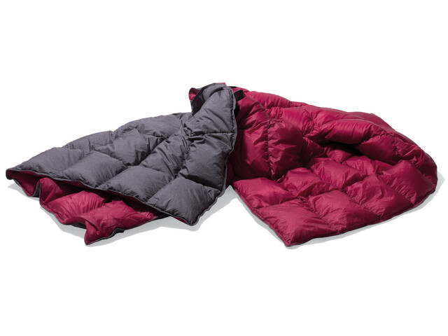 Yeti Duvet Packable Down Blanket 200x140cm ash coal/garnet